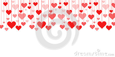 Banner Of A Garland Of Hearts Background Valentine's Day, Wedding.