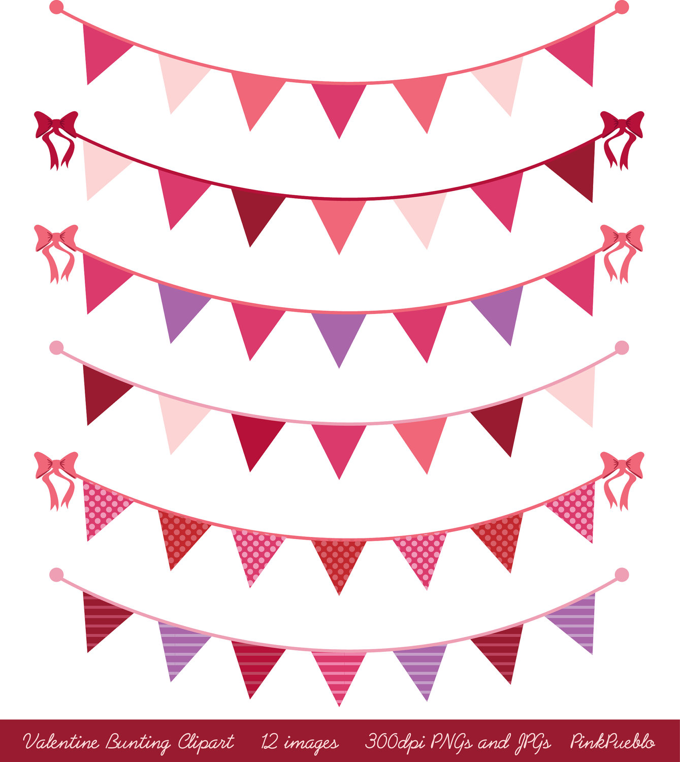 Valentines Day Bunting Clip Art Clipart, Valentines Day Clip Art.
