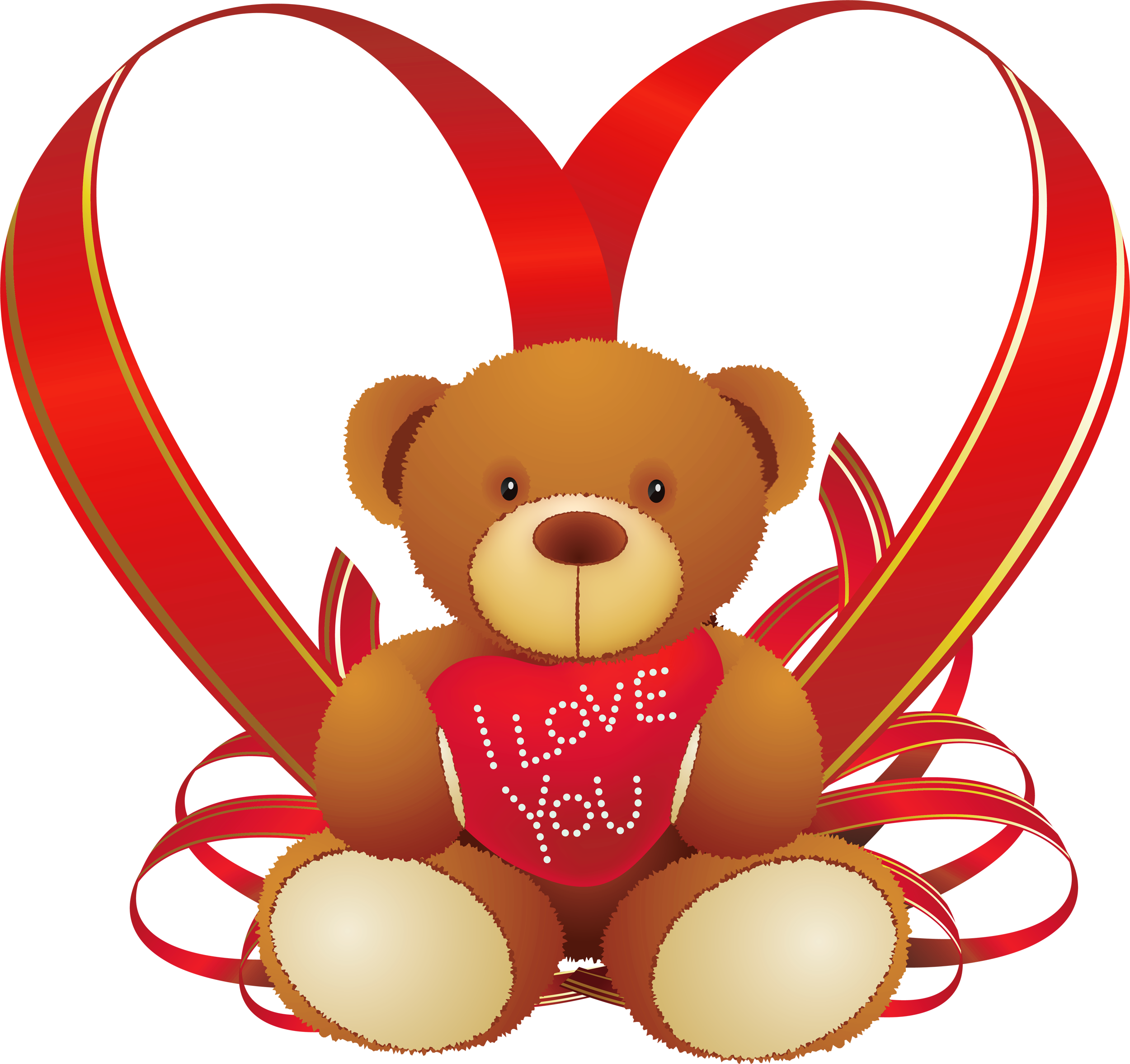 Simple Valentine Bears Clipart Clipart Collection.