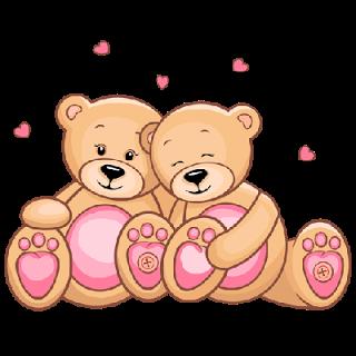 Cute Cartoon Teddy Bears.