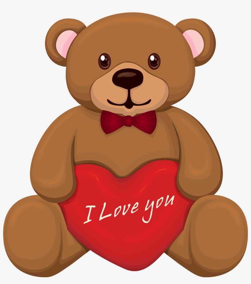 Valentine Bear Png Clipart.