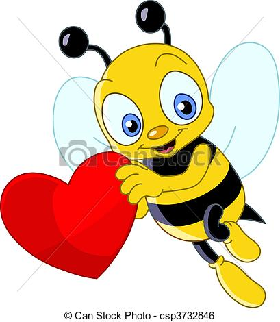 Valentine bee clipart 5 » Clipart Station.