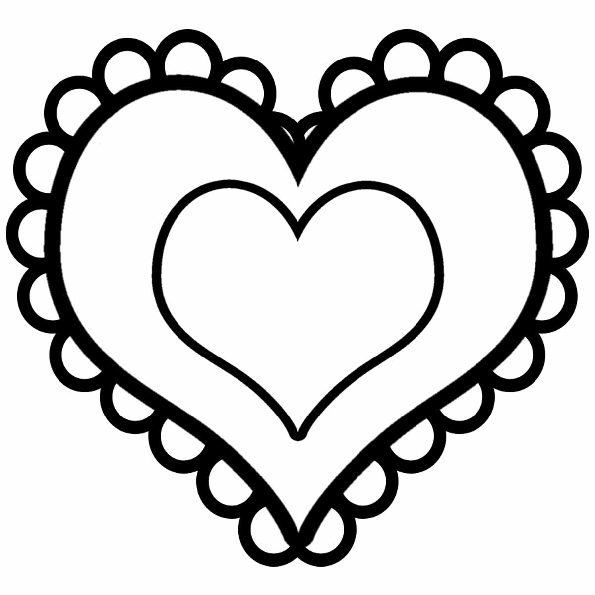 Valentine Heart Clipart Black And White.