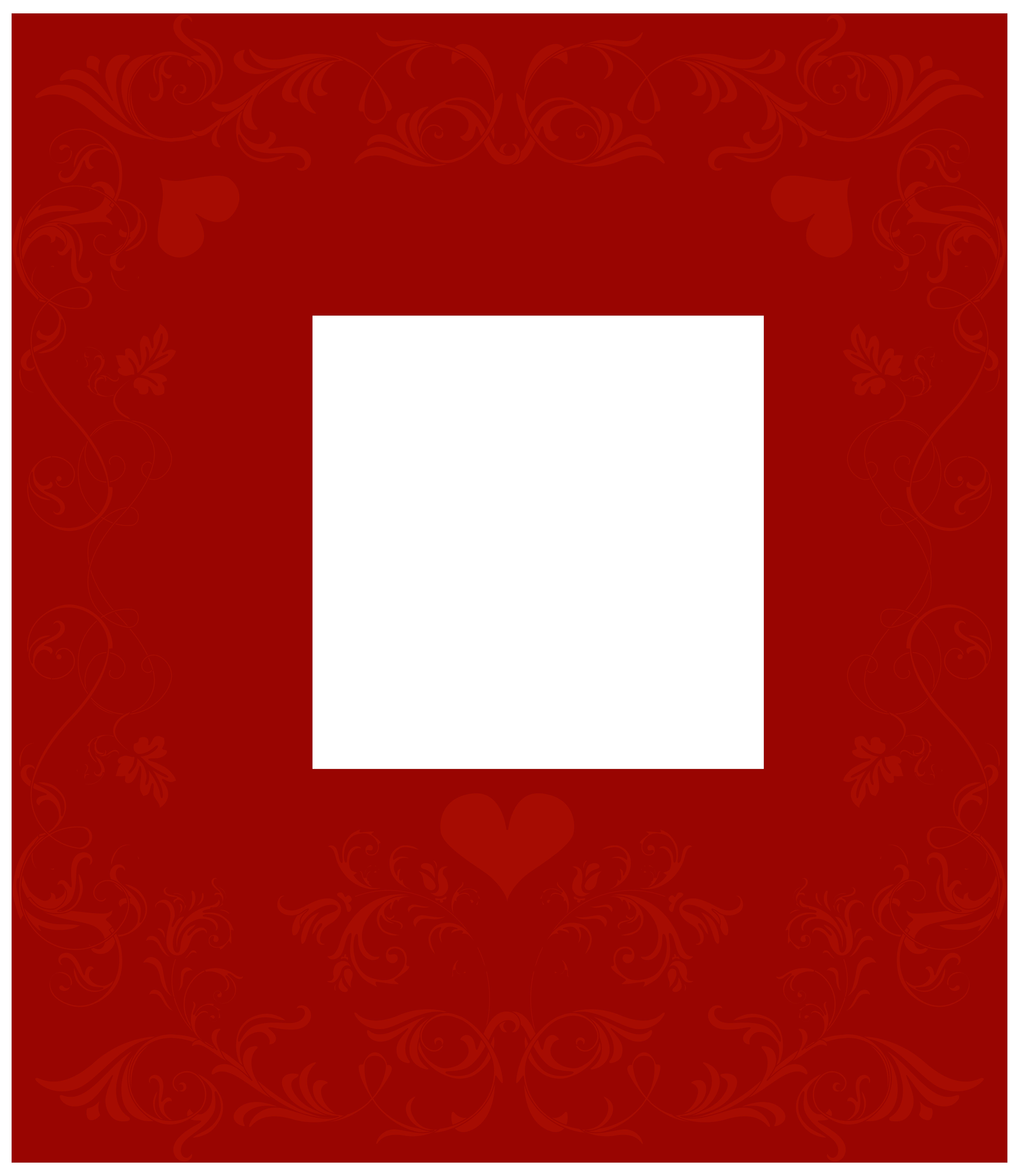 Valentine\'s Day Decorative Border Transparent PNG Clip Art.