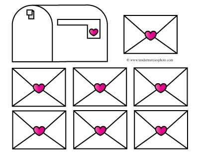 free valentine mailbox clipart printable teacher preschool.