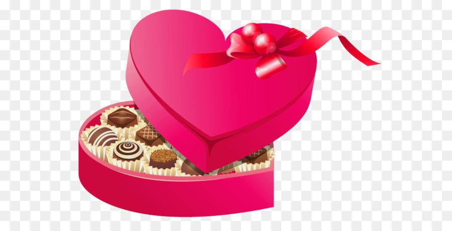 Valentine\'s Day Chocolate box art Heart Clip art.