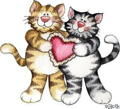 Kitten Valentine Cliparts.