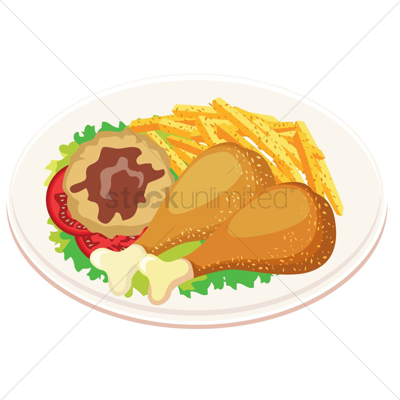 1466 Fries free clipart.