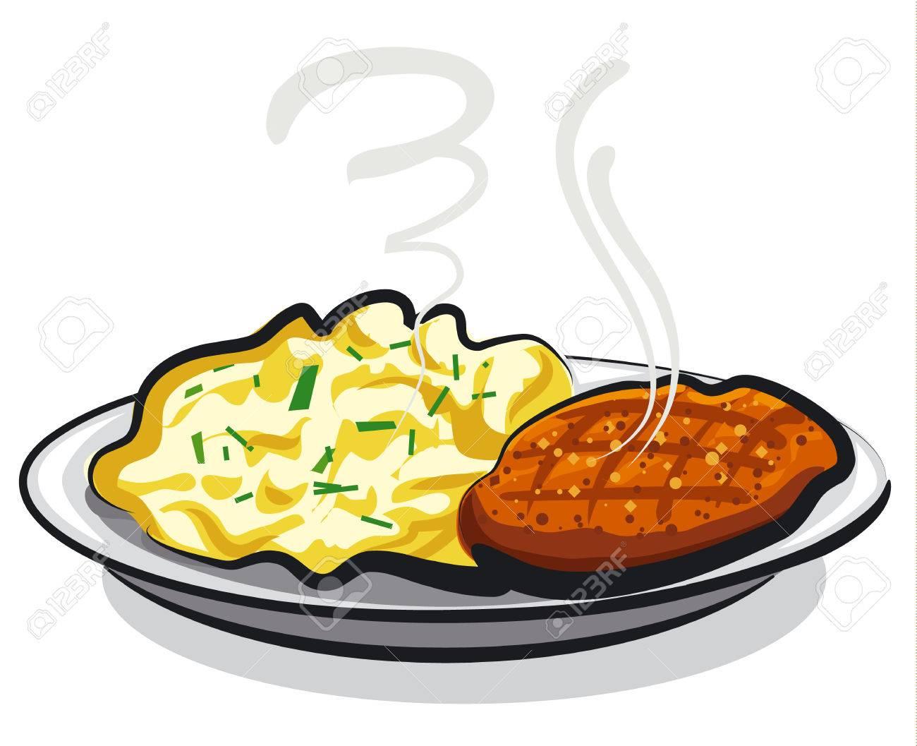 Mashed Potato Clipart.
