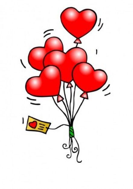 Heart Balloons Vector clip art.