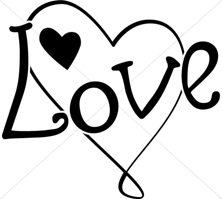 Fun Black and White Love Heart.