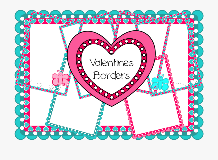Free Valentine Borders To Use With Hearts And Butterflies.