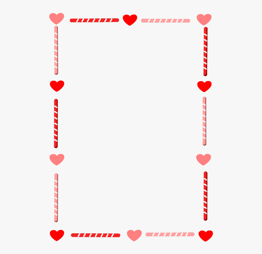 Heart And Candy Border.