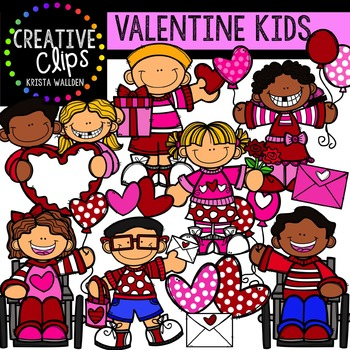 Kids Valentine Clipart {Creative Clips Clipart}.