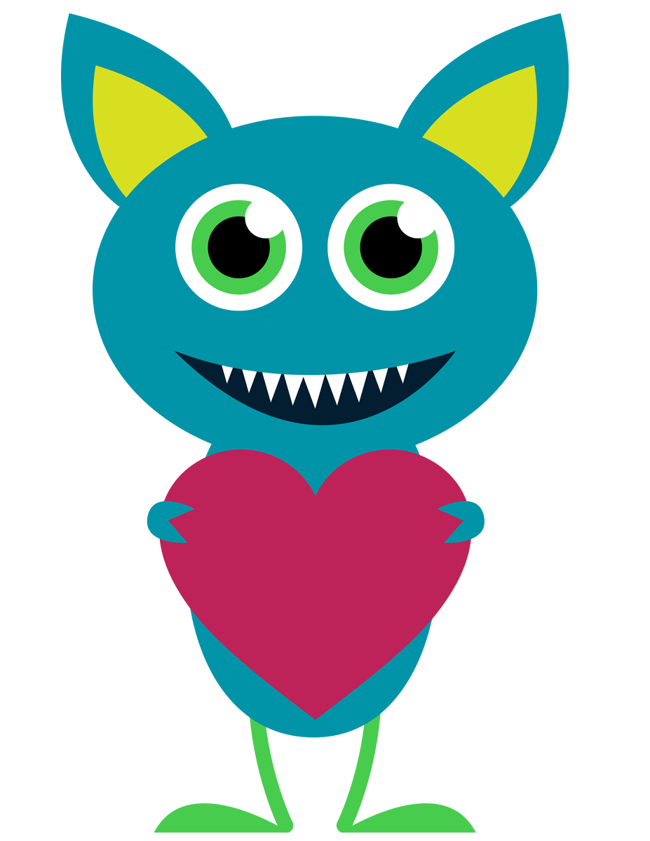 Valentine clipart monsters, Valentine monsters Transparent.