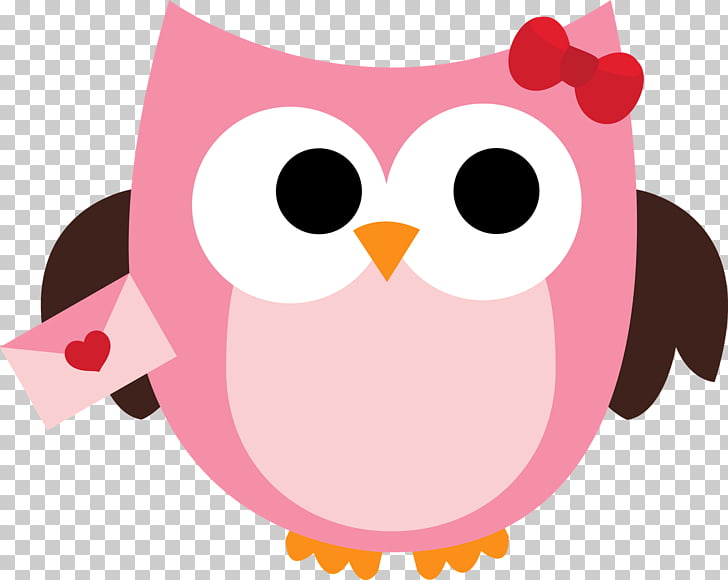 Valentines Day Heart , Cute Owl PNG clipart.