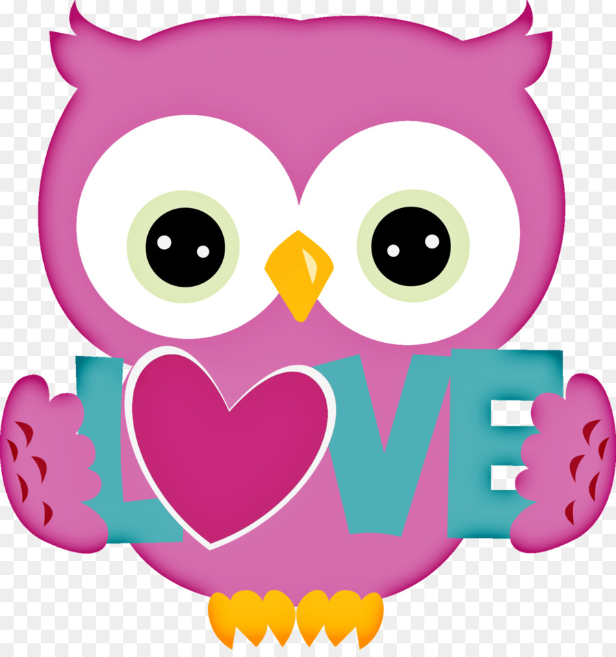 Owl Valentine\'s Day Heart Clip art.