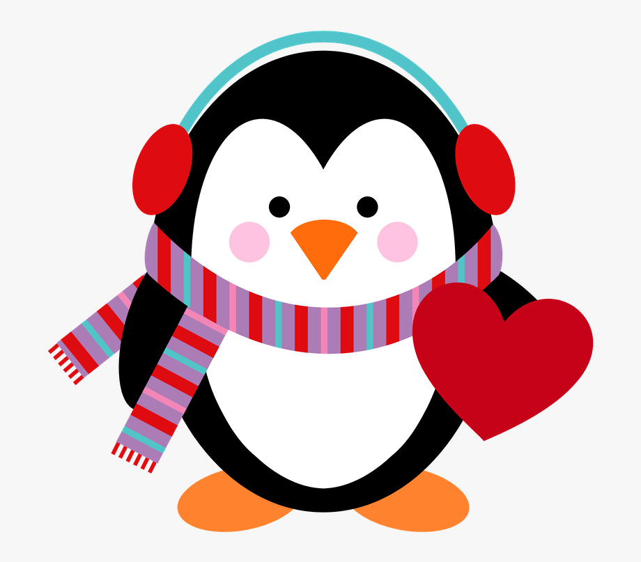 Cute Penguin Christmas Clipart.