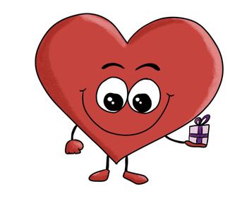 Heart St. Valentine clipart, Valentine's day.