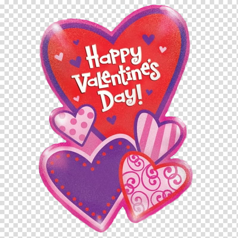 Pink, red, and purple Happy Valentine\'s day! transparent.