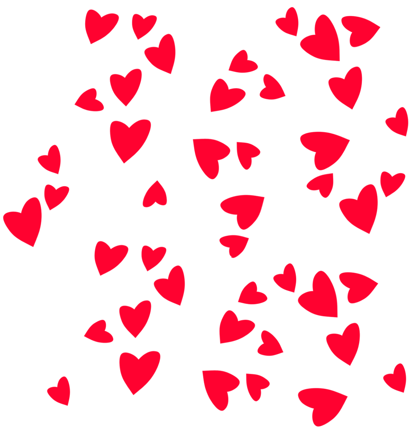 Valentines Day PNG Hearts Decor Clipart Picture.
