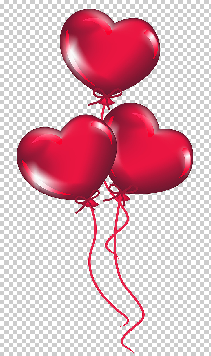 Heart Valentine\'s Day , Transparent Heart Balloons , red.