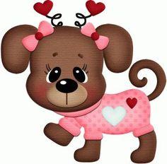 Valentine puppy clipart 4 » Clipart Station.