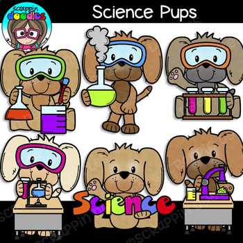 Science Pups Clipart {Scrappin Doodles Clipart}.