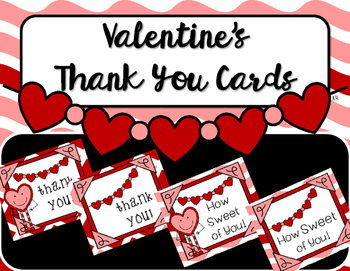 Valentine\'s Day Thank You Notes.