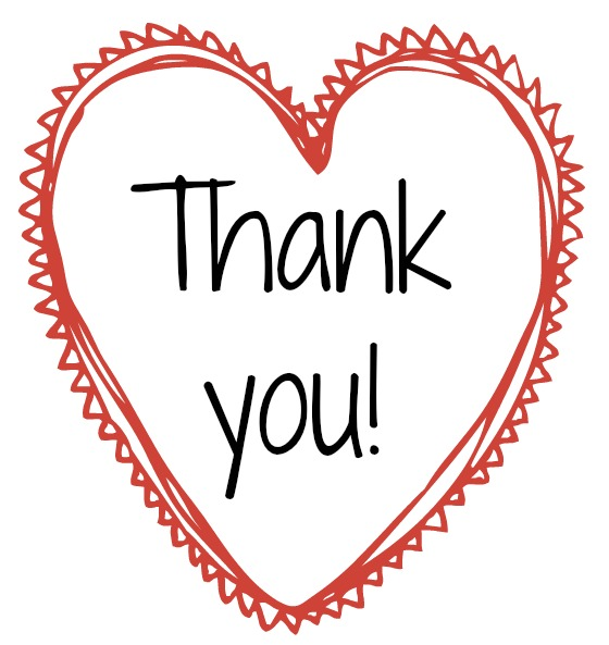Valentine Thank You Clipart.