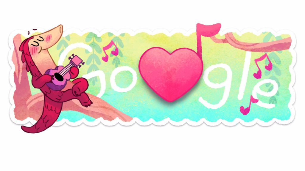 Pangolin love: Google\'s Valentines Day Doodle is utterly.