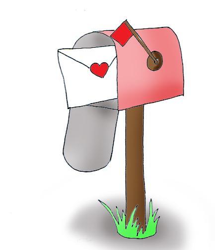 Mailbox Valentine Mail Clipart.