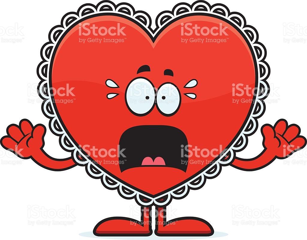 Scared Cartoon Valentine stock vector art 532594319.