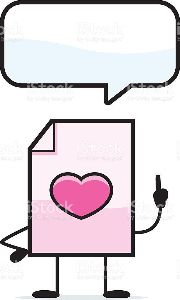 Talking Valentine stock vector art 532751117.