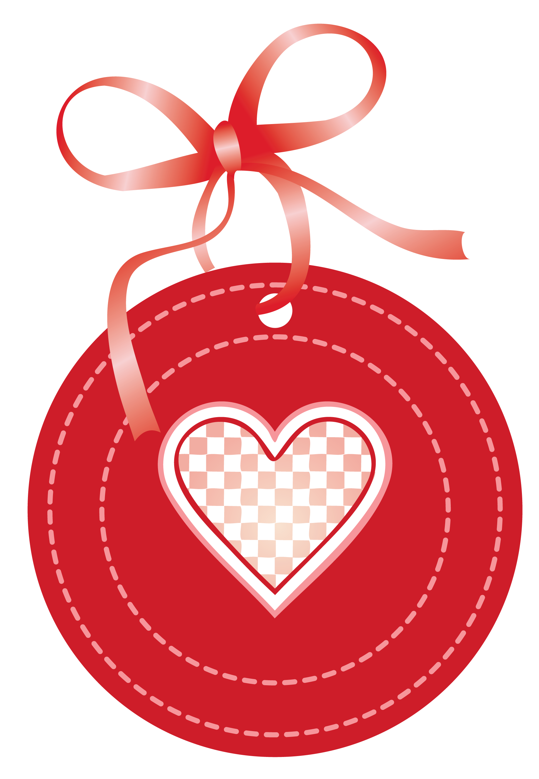 Valentine Oval Label with Heart PNG Clipart Picture.