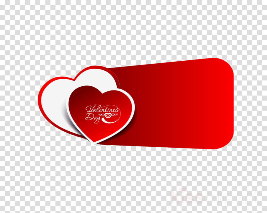 red heart label love logo clipart.