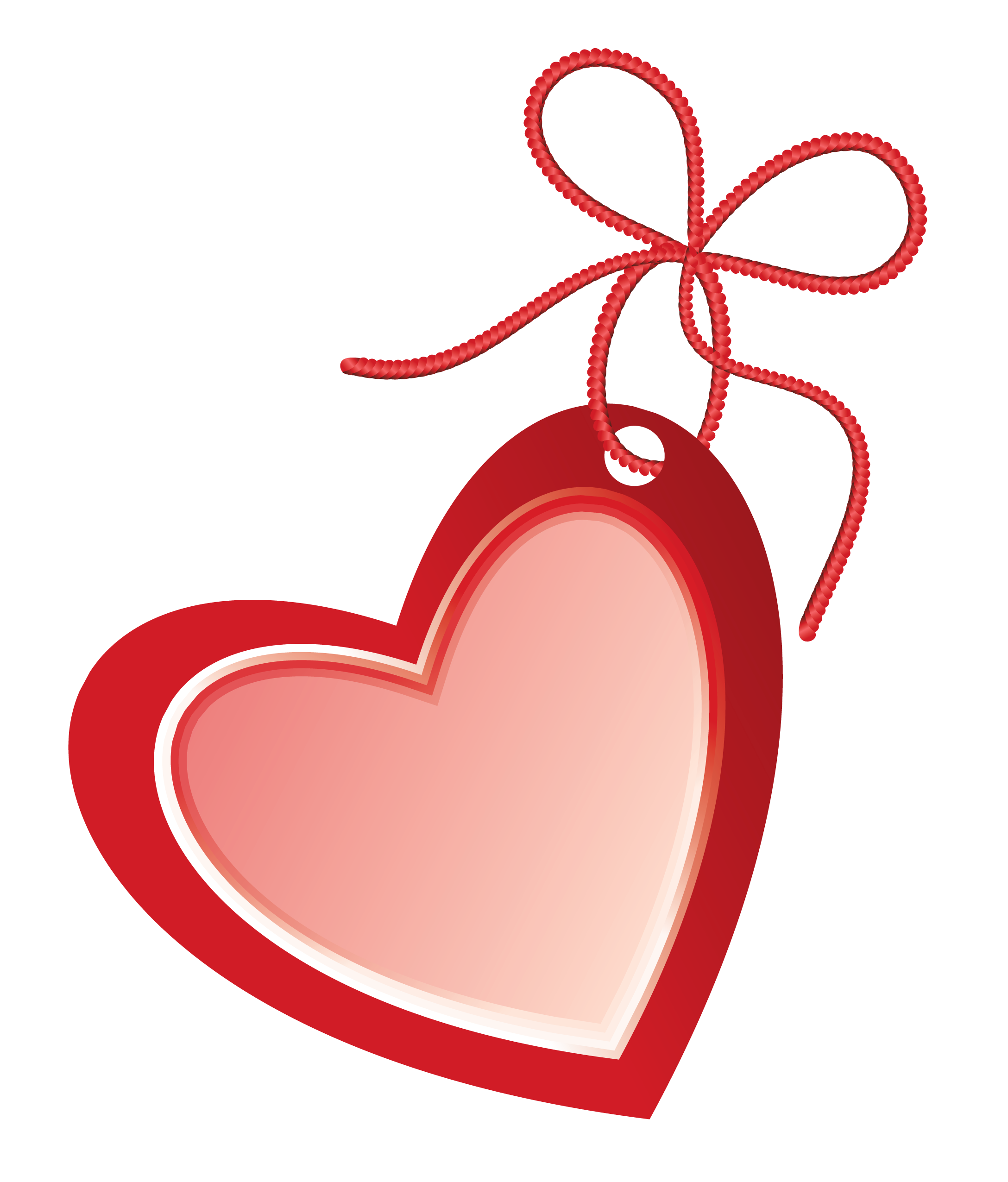 Valentine Heart Label PNG Clipart Picture.