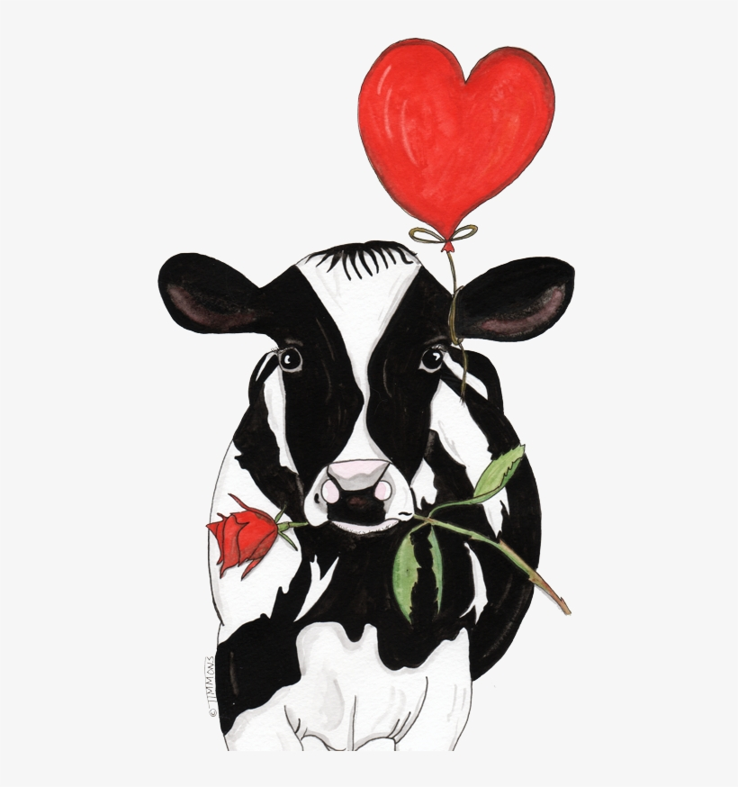 Rose Cartoon Cow Pictures, Valentine Cartoon, Cow Clipart.