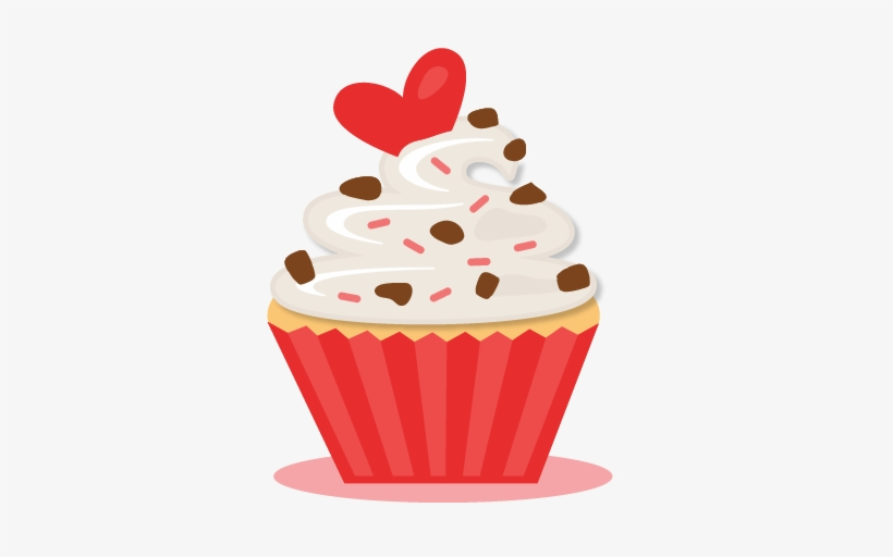 Valentine Cupcake Png Banner Stock.
