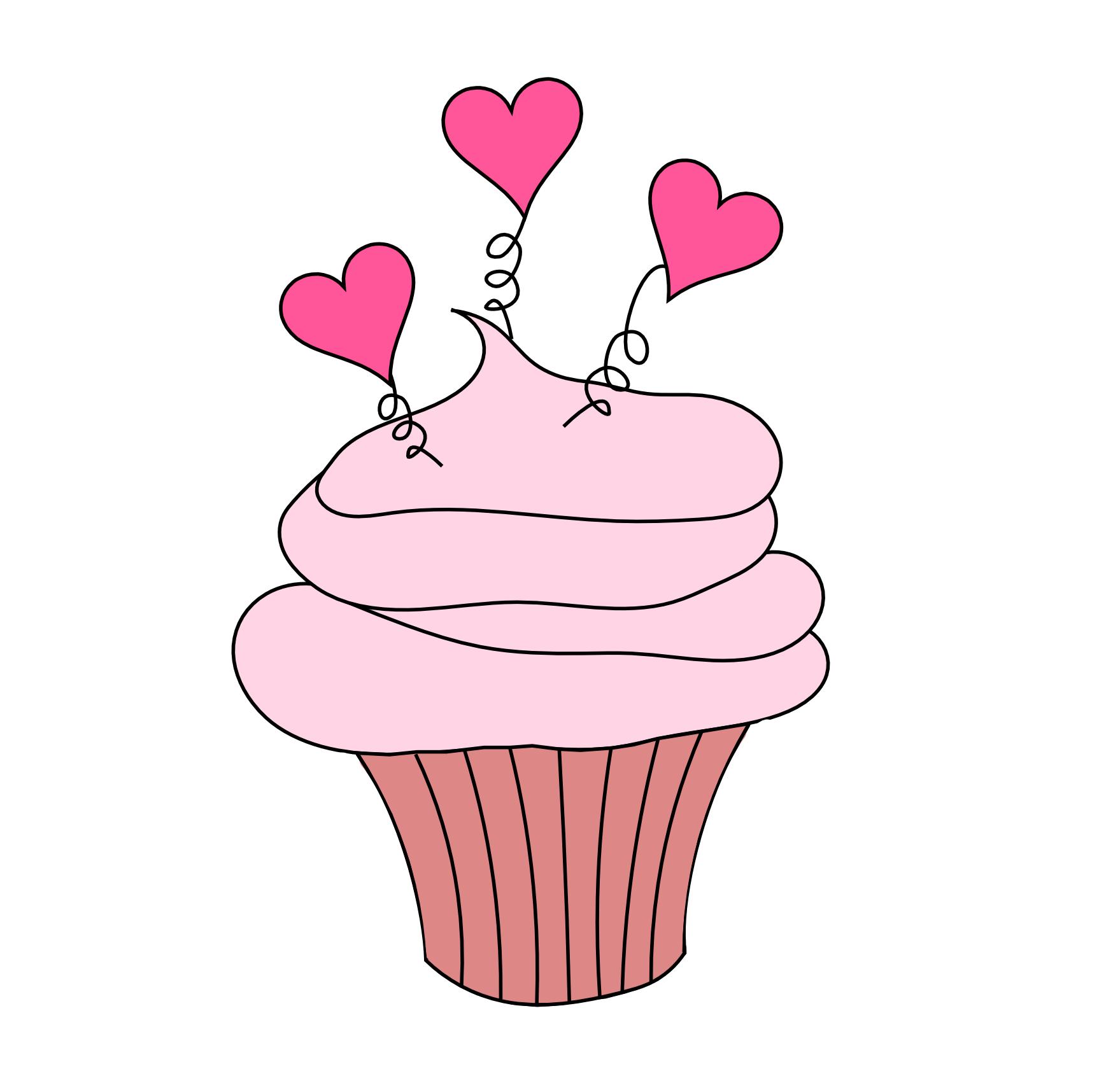 Valentine cupcakes clipart 4 » Clipart Portal.