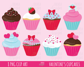 50% SALE valentine\'s cupcakes clipart, valentine\'s clipart, love, friends.