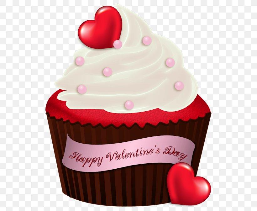 Cupcake Chocolate Brownie Valentine\'s Day Birthday Cake Clip.