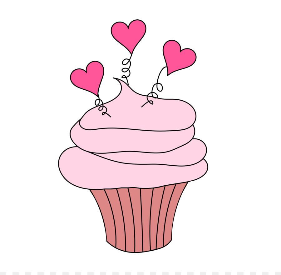 Cupcake Valentine\'s Day Clip art.