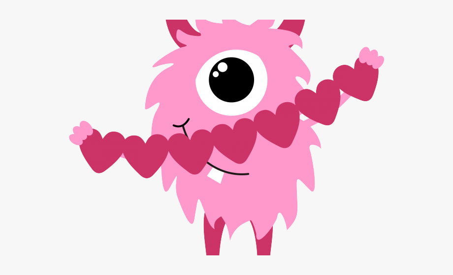 Valentine`s Day Clipart Monster.