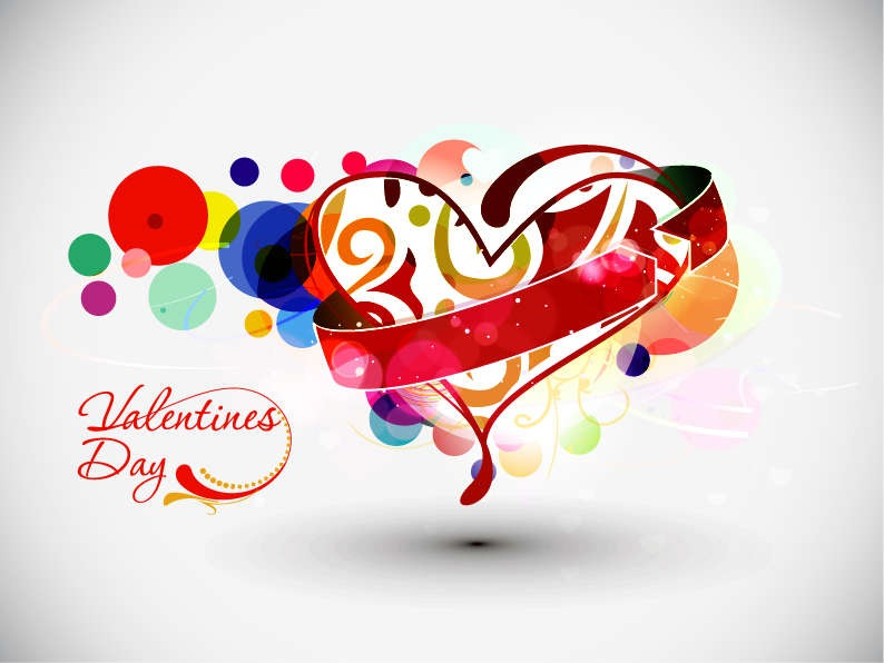 Abstract Valentine\'s Day Vector Art.