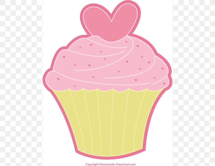 Cupcake Valentines Day Muffin Icing Clip Art, PNG, 496x632px.