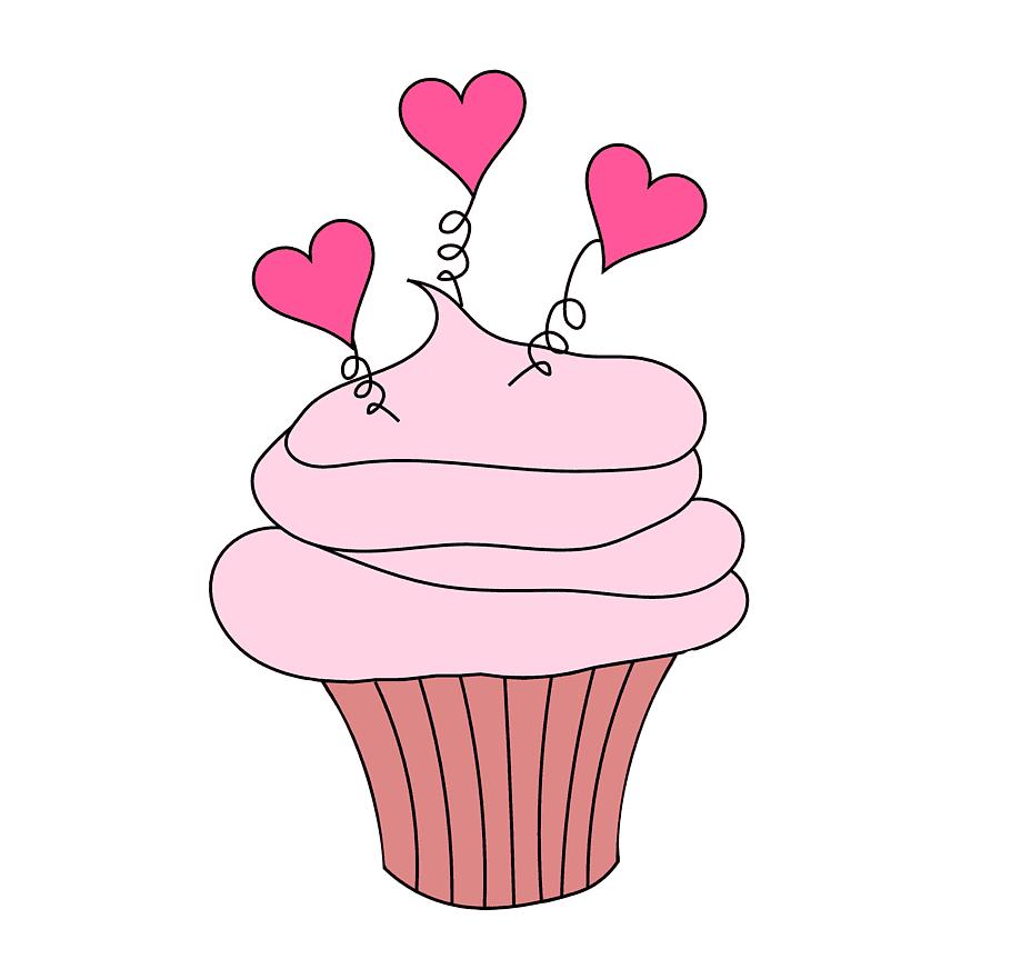Cupcake Valentine\'s Day, Valentine Cake s free png.