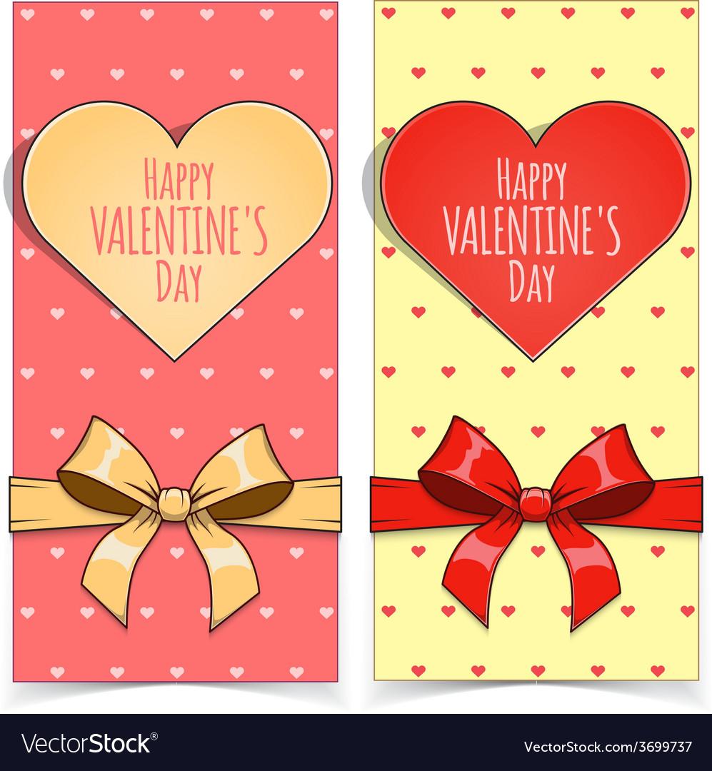 Saint Valentine Day banners.