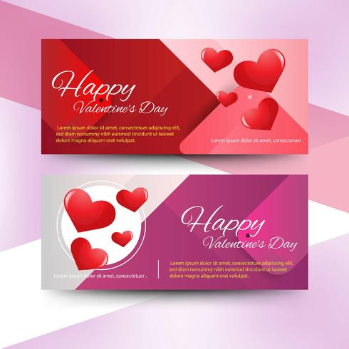 Valentine\'s day sale banners.
