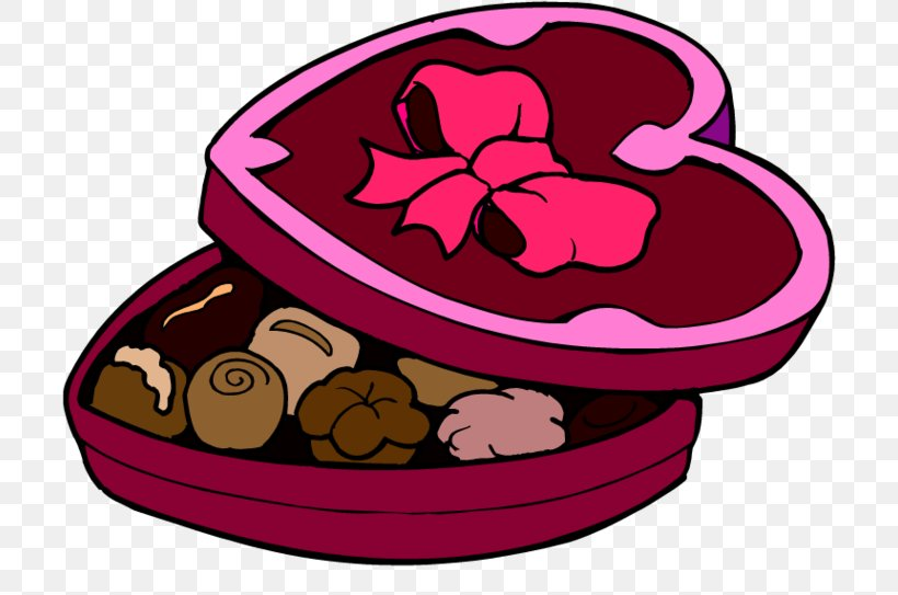 Chocolate Brownie Valentine\'s Day Candy Clip Art, PNG.